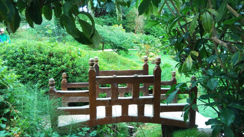 Мост в Японската градина в Powerscourt Gardens, Ireland