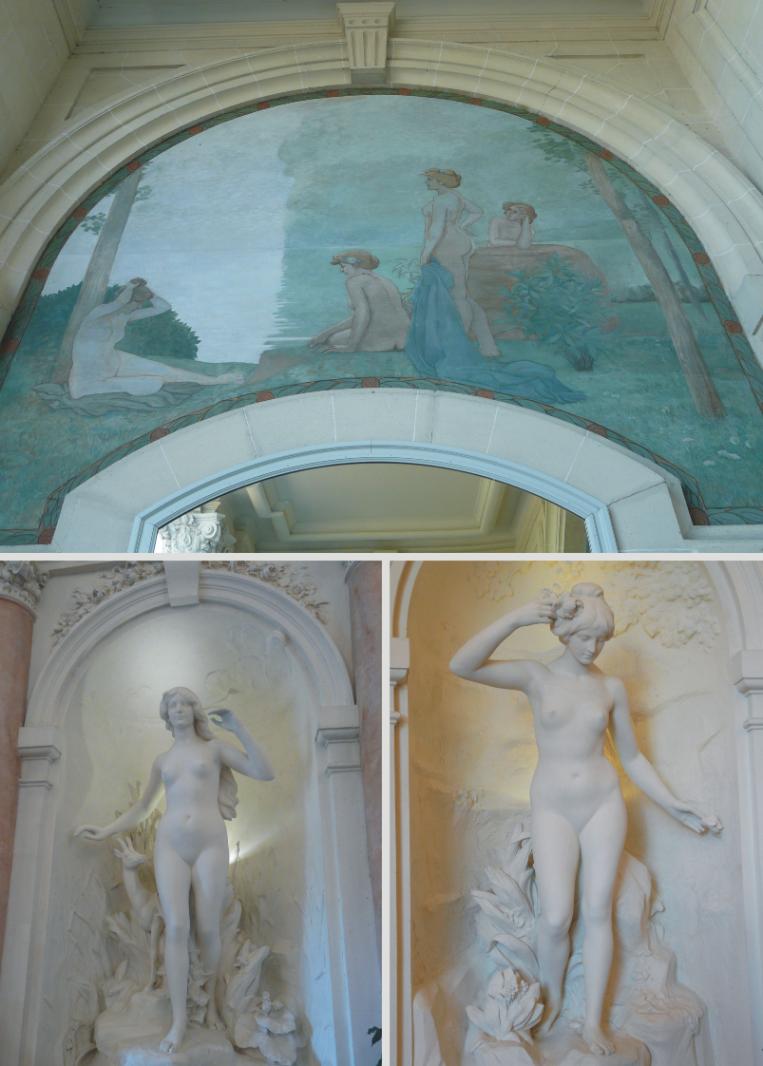 Вестибюла на дворецът Люмиер, Евиан, Франция