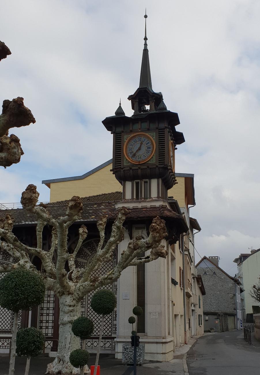 Часовниковата кула на Buvette Cachat, Евиан, Франция