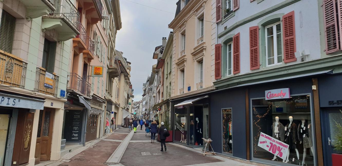 Улиците на Евиан, Франция