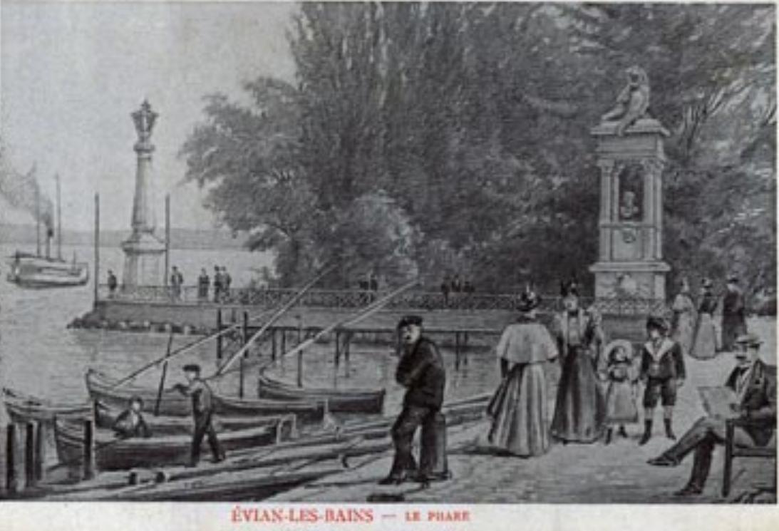 Фарът преди години ,Евиан, Франция