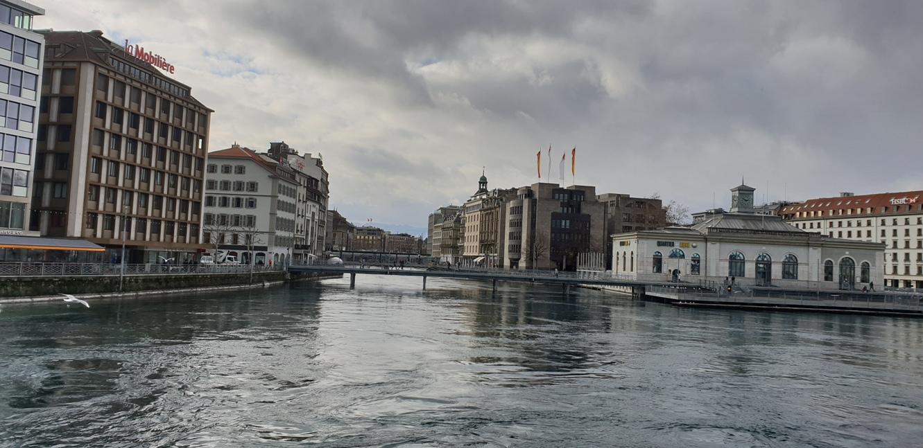 Снимка 16, Изглед от мостта Pone des Bergues, Женева, Швейцария