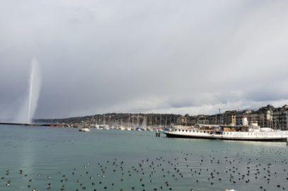 Женева, Швейцария – почти на бегом